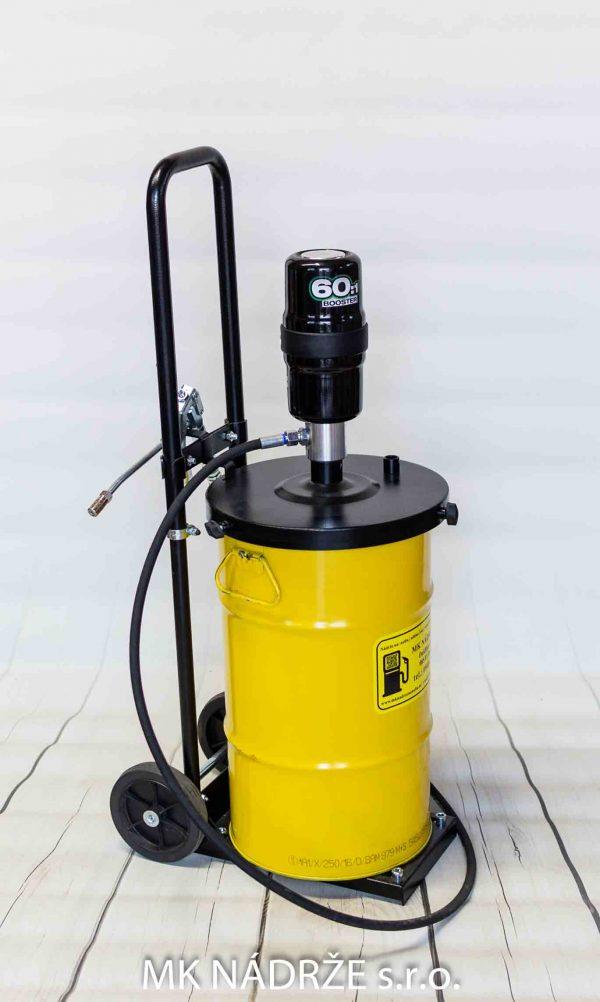 vozik s pneumatickym cerpadlom na mazivo